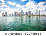 downtown of miami skyline.... | Shutterstock . vector #520748665