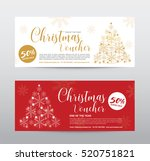 gift voucher for merry... | Shutterstock .eps vector #520751821