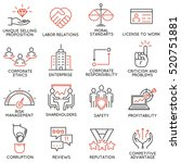 vector set of 16 icons related... | Shutterstock .eps vector #520751881