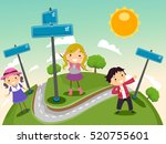 stickman illustration of a... | Shutterstock .eps vector #520755601