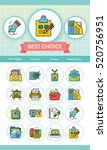 icon set office vector | Shutterstock .eps vector #520756951