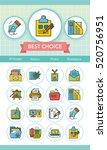 icon set office vector | Shutterstock .eps vector #520756951