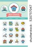 icon set pet vector | Shutterstock .eps vector #520757047