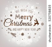 christmas and new year... | Shutterstock . vector #520758835