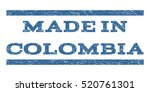 made in colombia watermark... | Shutterstock .eps vector #520761301