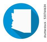 arizona state map flat icon... | Shutterstock .eps vector #520764634