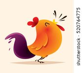 rooster design. chinese new... | Shutterstock .eps vector #520764775