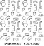 dairy product seamless pattern. ... | Shutterstock .eps vector #520766089