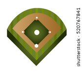 baseball field diamond form... | Shutterstock .eps vector #520767841
