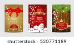 card set christmas concept... | Shutterstock .eps vector #520771189