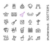 party icon thin line set for... | Shutterstock .eps vector #520773391
