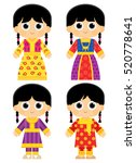 traditional clothes in united... | Shutterstock .eps vector #520778641