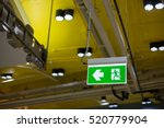 Emergency exit sign in modern...