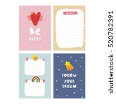 cute planner  cards and... | Shutterstock .eps vector #520782391