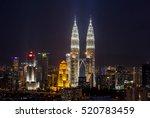 majestic view of petronas twin... | Shutterstock . vector #520783459