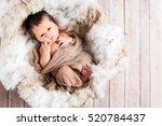 Newborn Infant Baby Boy In A...