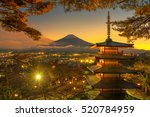 View Of Chureito Pagoda With M...