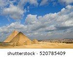 giza pyramids   cairo  egypt | Shutterstock . vector #520785409