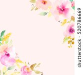 watercolor flower background... | Shutterstock . vector #520786669