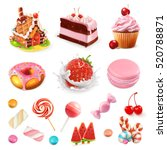 confectionery and desserts.... | Shutterstock .eps vector #520788871