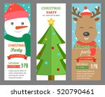 christmas party invitations... | Shutterstock .eps vector #520790461