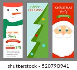 christmas party invitations... | Shutterstock .eps vector #520790941