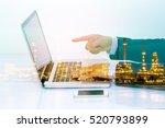 double exposure of businessman...   Shutterstock . vector #520793899