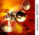musical jazz background | Shutterstock . vector #52079395