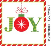 joy christmas card | Shutterstock .eps vector #520794877