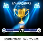 trophy and information soccer... | Shutterstock .eps vector #520797325