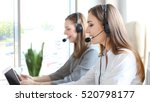 portrait of call center worker... | Shutterstock . vector #520798177