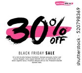 30  off black friday sale ... | Shutterstock .eps vector #520798369