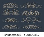 vintage decor elements and... | Shutterstock .eps vector #520800817