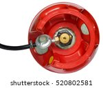 red gas cylinder with a gearbox ... | Shutterstock . vector #520802581