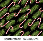 Holiday Pattern. Candy Cane....