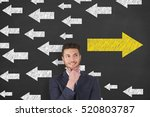 business man drawing change... | Shutterstock . vector #520803787