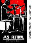 jazz festival poster with... | Shutterstock .eps vector #520804981
