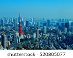 view from roppongi hills tokyo... | Shutterstock . vector #520805077