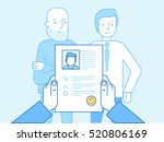 vector illustration in modern... | Shutterstock .eps vector #520806169