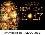 happy new year 2017 made with... | Shutterstock . vector #520806811