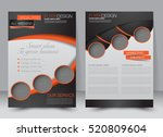brochure template. business... | Shutterstock .eps vector #520809604