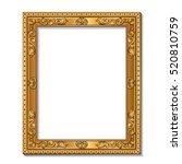 rectangular frame gold color...   Shutterstock .eps vector #520810759