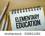 elementary education text... | Shutterstock . vector #520811281