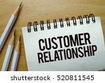 customer relationship text... | Shutterstock . vector #520811545