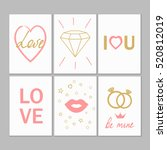 greeting cards for valentines... | Shutterstock .eps vector #520812019
