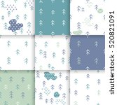 scandinavian pattern with fir... | Shutterstock .eps vector #520821091