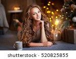 close up portrait  of beautiful ... | Shutterstock . vector #520825855