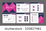collection of business meeting... | Shutterstock .eps vector #520827481
