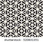 vector seamless black and white ... | Shutterstock .eps vector #520831351
