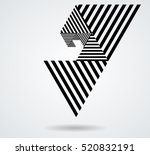 vector hipster triangle... | Shutterstock .eps vector #520832191